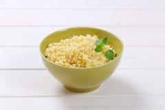 Cooked hulled barley. Bowl of Cooked hulled barley Stock Photos