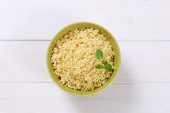 Cooked hulled barley. Bowl of Cooked hulled barley Royalty Free Stock Photos