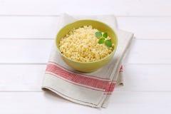 Cooked hulled barley. Bowl of Cooked hulled barley Royalty Free Stock Image
