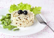 Bowl of cooked mixed wild Rice Royalty Free Stock Images