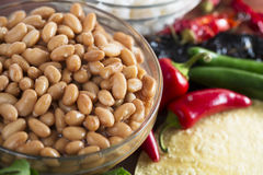 Bowl of Cooked Pinto Beans Royalty Free Stock Photography