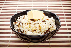 Bowl Of Cooked Rice Royalty Free Stock Images
