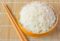 Bowl of Cooked Rice Stock Image