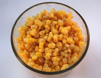 Bowl of corn Stock Photo