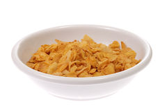 Bowl with corn flakes Stock Images