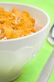 Bowl of corn flakes Stock Images
