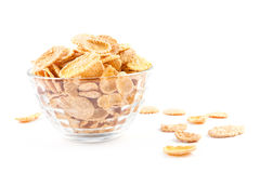 Bowl corn of flakes Stock Images