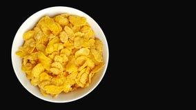 Bowl of corn flakes Stock Image