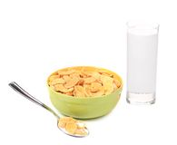 Bowl of corn flakes. Stock Image