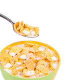 Bowl of corn flakes. Royalty Free Stock Photo