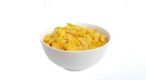 Bowl of corn flakes Stock Photos