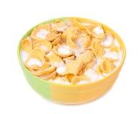 Bowl of corn flakes Royalty Free Stock Image