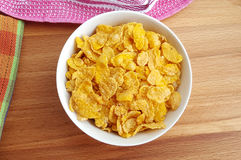 Bowl of corn flakes Royalty Free Stock Photo