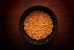 Bowl with Corn Sweet Royalty Free Stock Photography