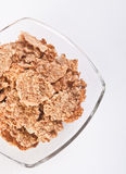 Bowl of cornflakes. Close up royalty free stock photos
