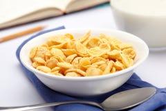 Bowl of cornflakes Stock Photo