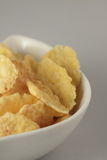 A bowl of cornflakes Stock Photo