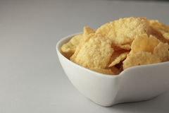 A bowl of cornflakes Royalty Free Stock Photo