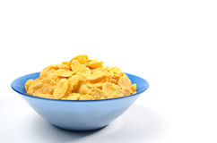 Bowl of cornflakes for breakfast Stock Images