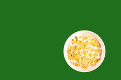 Bowl With Cornflakes Royalty Free Stock Images