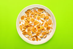 Bowl With Cornflakes Royalty Free Stock Photo