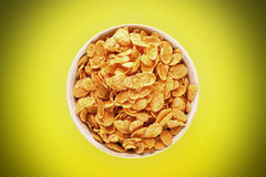 Bowl With Cornflakes Stock Photography