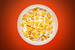 Bowl With Cornflakes Royalty Free Stock Photos