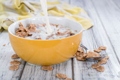Bowl with Cornflakes and Milk Royalty Free Stock Image