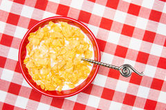 Bowl of cornflakes Stock Photos