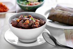 A bowl of coto makassar Stock Images