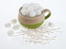 Bowl of Cotton Balls Royalty Free Stock Photo