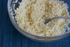 A bowl of couscous Stock Photo