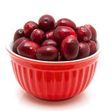 Bowl of cranberries Royalty Free Stock Photos
