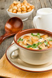 Bowl of cream of mushroom soup Royalty Free Stock Photos
