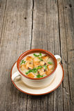 Bowl of cream of mushroom soup Royalty Free Stock Image