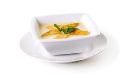 Bowl of Cream Soup Stock Image