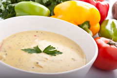 Bowl of Cream Soup Royalty Free Stock Photos