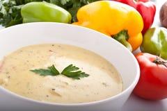 Bowl of Cream Soup royalty free stock photos