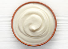 Bowl of cream Royalty Free Stock Images