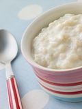 Bowl of Creamed Rice Pudding Stock Images