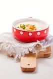 A bowl of creamy cauliflower soup Stock Photos
