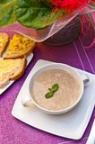 Bowl of creamy mushroom soup Royalty Free Stock Photo