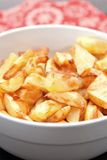 Bowl Of Crisp Golden Potato Stock Photography