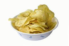 Bowl of Crisps. As a cut out stock photo