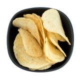 Bowl of crisps, potato chips Stock Image