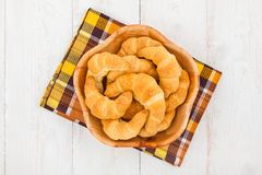 Bowl Of Croissants Royalty Free Stock Image