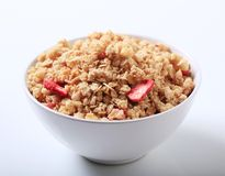 Bowl of crunchy granola Royalty Free Stock Photo