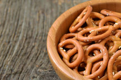 Bowl of crunchy and salty pretzels Royalty Free Stock Photos