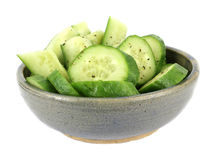 Bowl Cucumbers Stock Images