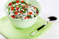 Bowl of curd Royalty Free Stock Photos